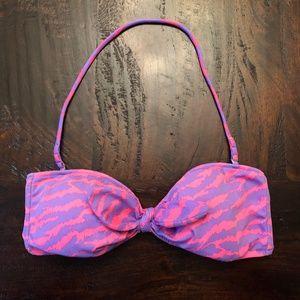 Victoria's Secret Pink and Purple Zebra Bikini Top